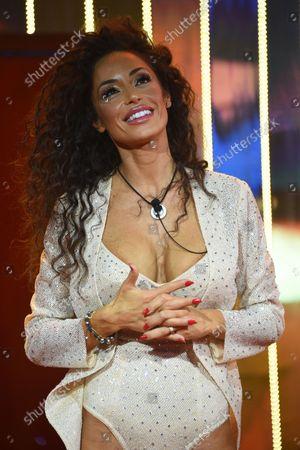Stock Image of Raffaella Fico during Tv broadcast Grande Fratello vip 6 First episode in Rome, Italy