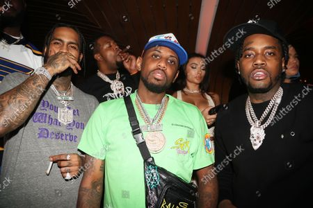 Stock Photo of Dave East, Fabolous and Fivio Foreign