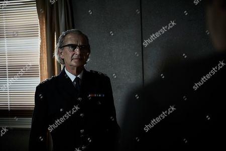 Stock Photo of Anton Lesser as Chief Super Reginald Bright.