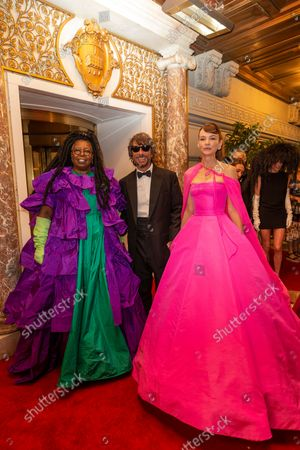 Whoopi Goldberg, Pierpaolo Piccioli, Carey Mulligan depart The Pierre Hotel for Met Gala Celebrating In America: A Lexicon Of Fashion.