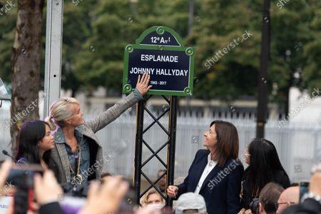 Editorial image of Inauguration of the Johnny Hallyday Esplanade, Paris, France - 14 Sep 2021