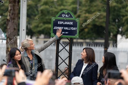 Editorial picture of Inauguration of the Johnny Hallyday Esplanade, Paris, France - 14 Sep 2021
