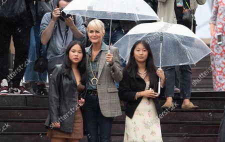 Laeticia Hallyday with daughters Jade Hallyday and Joy Hallyday