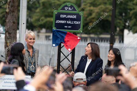 Editorial photo of Inauguration of the Johnny Hallyday Esplanade, Paris, France - 14 Sep 2021