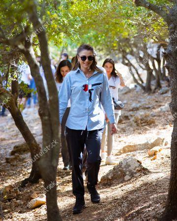 Queen Rania visit to Birgesh Village, Jordan