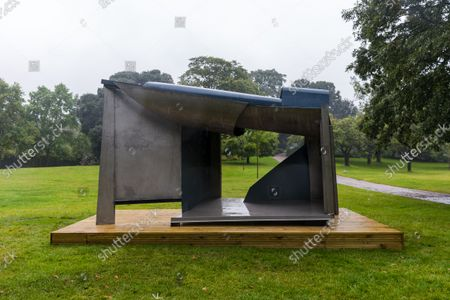 The sculpture 'Palanquin, 1987-1991' by artist Anthony Caro at the Frieze Sculpture exhibition in The Regent's Park, London, Britain, 14 September 2021. Frieze Sculpture is a free outdoor sculpture exhibition taking place in the English Gardens at The Regent's Park from 14 September 2021 to 31 October 2021.