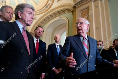 Editorial picture of Senate Republicans hold a news conference, Washington, Usa - 15 Sep 2021