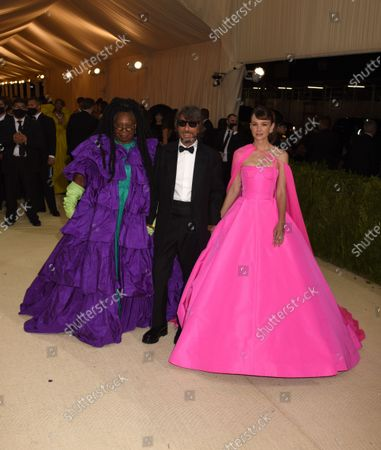 Stock Image of Whoopi Goldberg, Pierpaolo Piccioli and Carey Mulligan