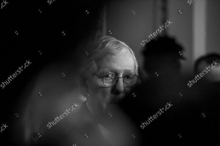 United States Senate Minority Leader Mitch McConnell (Republican of Kentucky) offers remarks during a press conference following the Senate Republican's policy luncheon at the US Capitol in Washington, DC, Tuesday, September 14, 2021.