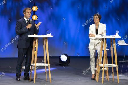 Stock Picture of Emmanuel Macron, Annick Girardin