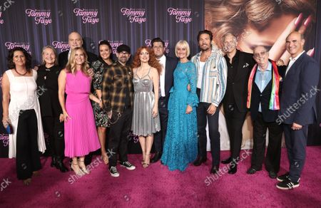 Gigi Pritzker, from left, Cherry Jones, Vincent D'Onofrio, Rachel Shane, Kelly Carmichael, Jay Baker, Jessica Chastain, Michael Showalter, Linda Dowds, Mark Wystrach, Abe Sylvia, Steve Pieters and Searchlight Pictures President Matthew Greenfield