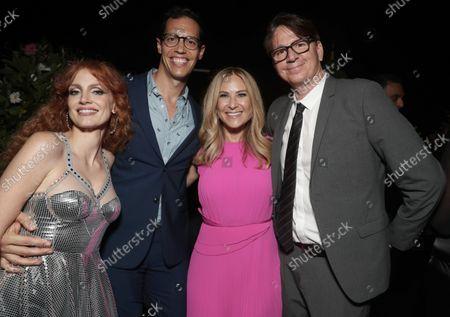 Jessica Chastain, from left, Richard Ruiz, Rachel Shane and John Houlihan