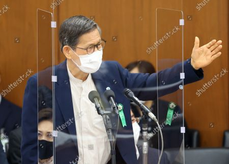 Editorial picture of Japanese Health Minister Norihisa Tamura attends Lower House's health committee session, Tokyo, Japan - 15 Sep 2021