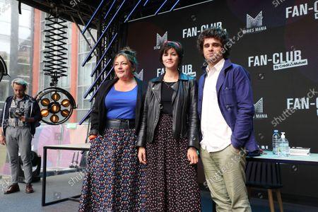 Emilie Gavois-Kahn Chloe Chloe Chaudoye, Arthur Dupont poses during the Fan Club of Series Mania Festival, in Lille, France, on September 01, 2021.