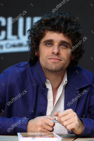 Arthur Dupont poses during the Fan Club of Series Mania Festival, in Lille, France, on September 01, 2021.