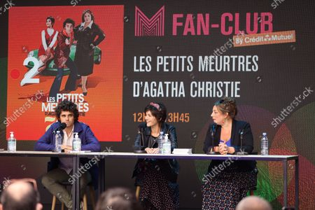 Arthur Dupont, Chloe Chaudoye, Emilie Gavois-Kahn is waiting during the Fan Club of Series Mania Festival, in Lille, France, on September 01, 2021.
