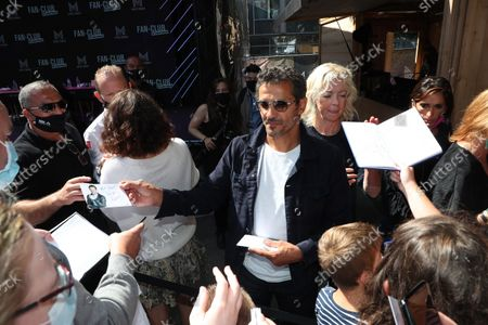 Kamel Belghazi, Luce Mouchel is waiting for the Fan Club of Series Mania Festival, in Lille, France, on August 27, 2021.