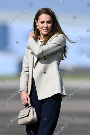 Catherine Duchess of Cambridge visit to RAF Brize Norton