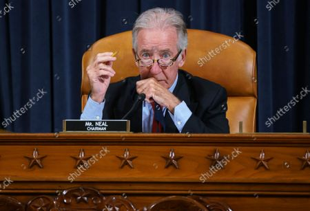 """House Ways and Means Committee Chairman Richard Neal, D-Mass., and his panel work on the """"Build Back Better"""" package, cornerstone of President Joe Biden's domestic agenda, at the Capitol in Washington"""
