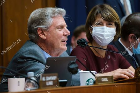"""Stock Photo of House Energy and Commerce Chairman Frank Pallone, D-N.J., with Rep. Cathy McMorris Rodgers, R-Wash., right, the ranking member, as they continue work on the """"Build Back Better"""" package, cornerstone of President Joe Biden's domestic agenda, at the Capitol in Washington"""