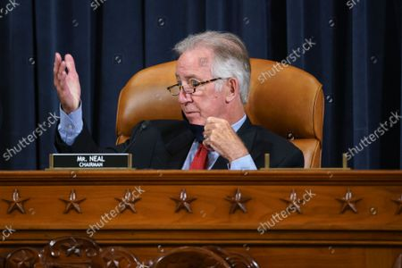 """House Ways and Means Committee Chairman Richard Neal, D-Mass., and his panel work on the """"Build Back Better"""" package, a cornerstone of President Joe Biden's domestic agenda, at the Capitol in Washington"""