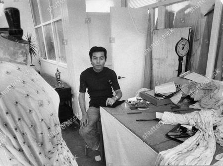 Yuki Torimaru Japanese Fashion Designer Seen Here In His Workroom.