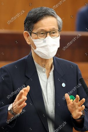 Editorial photo of Japanese Health Minister Norihisa Tamura attends Upper House's health committee session, Tokyo, Japan - 16 Sep 2021