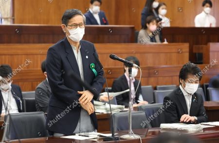 Shigeru Omi, Japan Community Health Care Organization president and a member of the government panel for COVID-19  answers a question at Upper House's health, labor and welfare committee session at the National Diet in Tokyo on Thursiday, September 16, 2021.