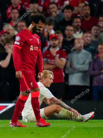 Dejected Mohamed Salah of Liverpool