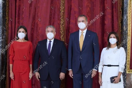Spanish Royals host lunch for Colombian President, Ivan Duque, Madrid