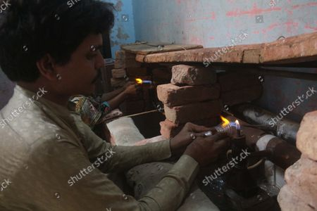 Editorial picture of Bangle factory in Hyderabad, Pakistan - 16 Sep 2021