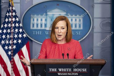 Press Secretary Jen Psaki Delivers Daily Press Briefing, Washington DC