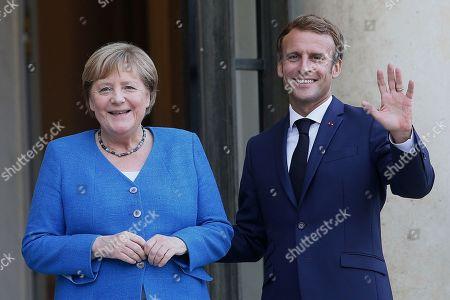 German Chancellor Angela Merkel at Elysee Palace, Paris