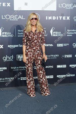 Marta Sanchez attends Fernando Caro fashion show
