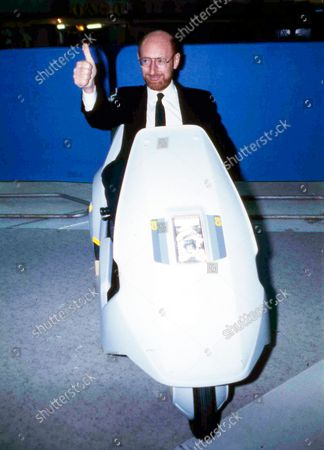 British industrialist Sir Clive Sinclair, pictured at the controls of his newly-launched Sinclair C5 battery operated personal transport, in London, England. Sinclair, the British inventor and entrepreneur who arguably did more than anyone else to inspire a generation of children into a life-long passion for computers and gaming, has died. He was 81. Sinclair, who rose to prominence in the early 1980s with a series of affordable home computers that offered millions their first glimpse into the world of coding as well as the adrenaline rush of playing games on screens, died on morning after a long illness with cancer