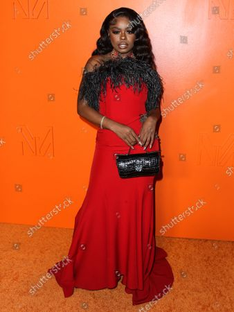 Singer Seandrea Sledge arrives at the MARCELL VON BERLIN Spring/Summer 2021 Runway Fashion Show held at the Sheats-Goldstein Residence on September 16, 2021 in Beverly Hills, Los Angeles, California, United States.