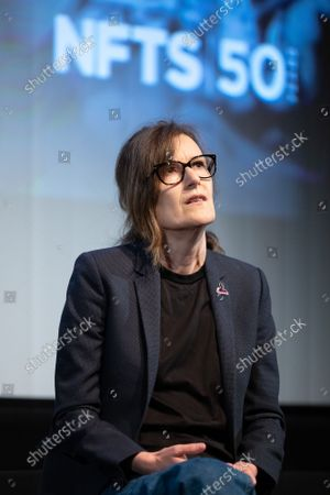 """Director Joanna Hogg attends a screening for """"The Souvenir"""" at BFI Southbank, part of NFTS's 50th anniversary celebration."""