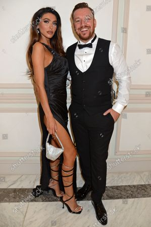 Stock Image of Elizabeth-Jayne Tierney and Jamie O'Hara attend the ICON Gala, presented by Buzz Mode, in aid of NHS Charities Together and WellChild, at the Landmark Hotel, London, 17th September 2021