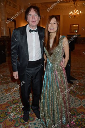 Stock Photo of Julian Lloyd Webber and Jiaxin Cheng attends the ICON Gala, presented by Buzz Mode, in aid of NHS Charities Together and WellChild, at the Landmark Hotel, London, 17th September 2021