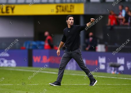 Arsenal manager Mikel Arteta reacts at the end of the game
