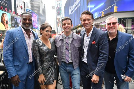 Norm Lewis, Jessica Voss, Michael Urie, Brian Stokes Mitchell and John McDaniel