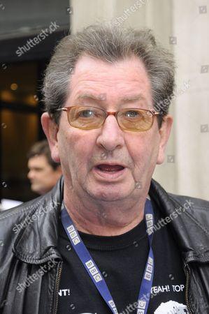 Stock Photo of Dave Cash leaving BBC Radio London
