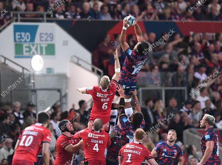Editorial image of Premier League Rugby, Bristol v Saracens, Bristol, UK - 17 Sep 2021