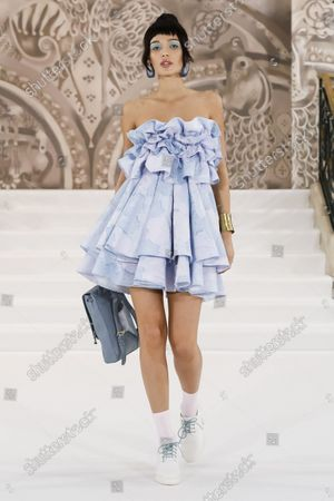 Model Wears an Outfit as Part of the Ready to Ready to Wear Summer 2022, London, UK, from the House of Paul Costelloe