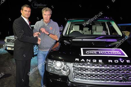 Jeremy Clarkson and Phil Popham, MD of Jaguar Land Rover.