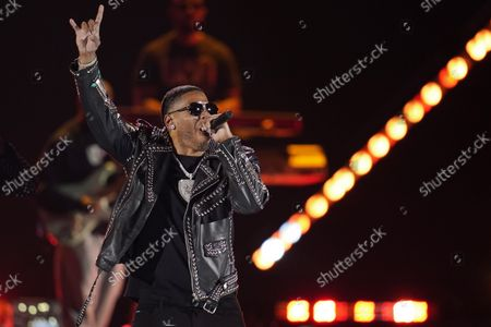 Nelly performs on the first night of the 2021 iHeartRadio Music Festival, in Las Vegas