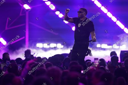 Stock Picture of Nelly performs on the first night of the 2021 iHeartRadio Music Festival, in Las Vegas