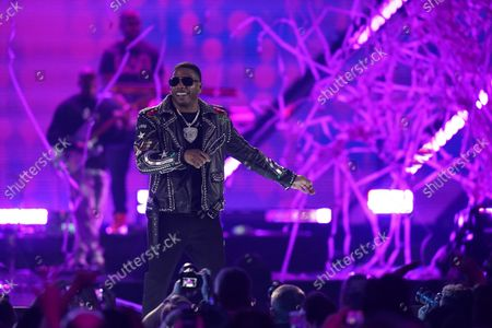 Stock Image of Nelly performs on the first night of the 2021 iHeartRadio Music Festival, in Las Vegas