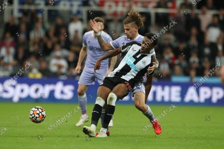 Stock Picture of Newcastle United's Joe Willock in action with Leeds United's Kalvin Phillips during the Premier League match between Newcastle United and Leeds United at St. James's Park, Newcastle on Friday 17th September 2021.