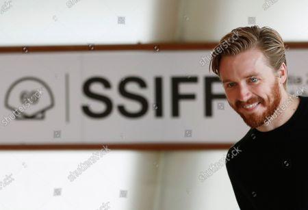Jack Lowden poses after presenting the film 'Benediction' the 69th San Sebastian International Film Festival (SSIFF), in San Sebastian, Spain, 18 September 2021. The festival runs from 17 to 25 September 2021.